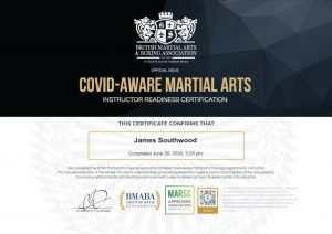 Covid Aware Certificate James Southwood