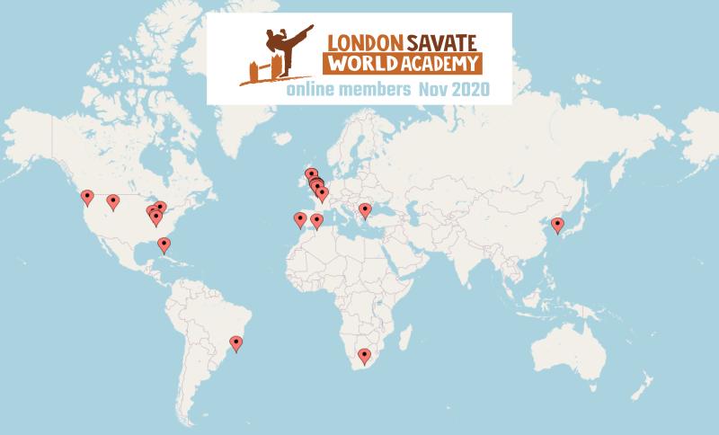 London Savate World Academy Map Nov 2020
