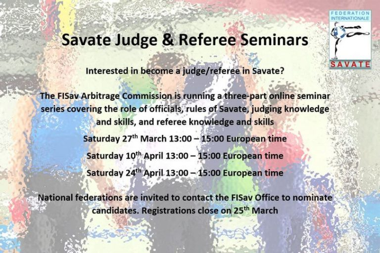 Online international judging training opportunity – 27 March 2021