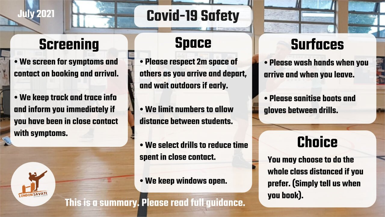 Covid-19 Safety from 19 July 2021