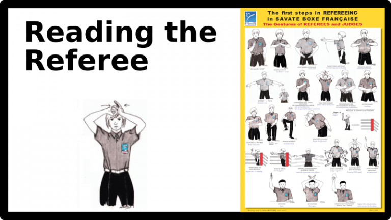 Reading the referee: how good fighters adjust to avoid warnings.