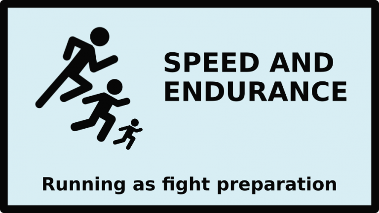 Speed and endurance: running as fight preparation